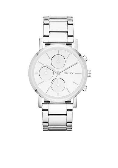 DKNY Women's Silver-Tone Chronograph Watch