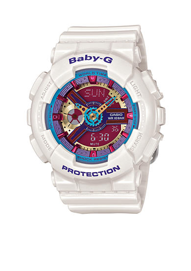 Baby-G White Ana-Digi Multi Color Face Baby-G Watch