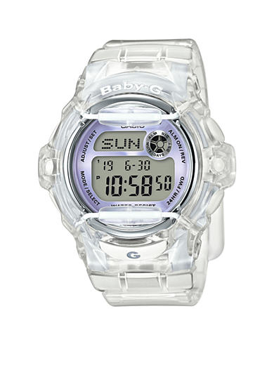 Baby-G Women's Clear Jelly Baby-G With Light Purple Metallic Face Watch