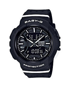 Baby-G Baby G Black with White Accents Ana-Digi Sport Watch