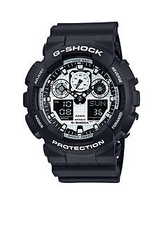 G-Shock Black and White Ana-Digi Watch