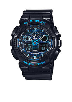 G-Shock Men's Black with Blue Accents Ana-Digi Watch