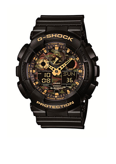 G-Shock Black with Camo Face XL Watch