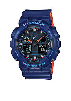 G-Shock Men's Blue G-Shock with Orange Accent Watch