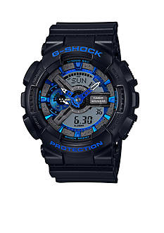 G-Shock Men's Black with Blue Camo Ana-Digi G-Shock Watch