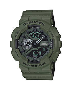 G-Shock Olive Green Ana-Digi with Dual Color Band Watch