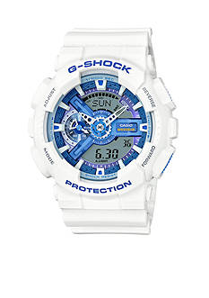 G-Shock Men's White with Blue Face G-Shock Watch