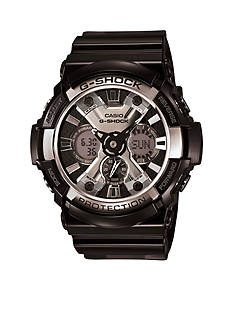 G-Shock Black Analog-Digital with Chrome Bezel Watch