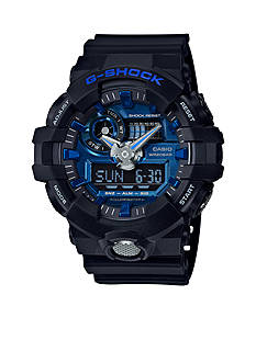 G-Shock Men's Black & Blue Ana-Digi G-Shock Watch