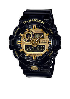 G-Shock Black and Gold Ana-digi G-Shock Watch