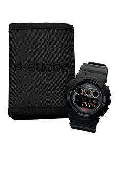 G-Shock G-Shock Black Out Watch and Wallet Gift Set