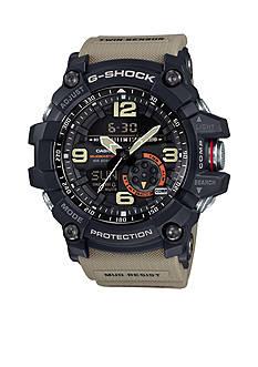 Men's Black with Brown Band Mudmaster G-Shock Watch