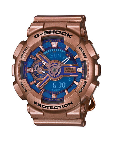 G-Shock Women's Gold and Blue Face S Series G-Shock Watch