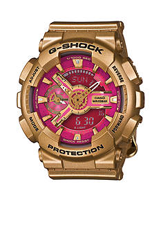 Women's Gold and Pink S Series G-Shock Watch