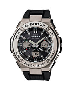 G-Shock Men's Black and Silver G-Steel Watch
