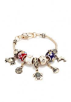 Kim Rogers Gold-Tone Sea Life Charm Bracelet