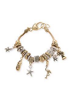 Kim Rogers® Two Tone Sea Life Charm Bracelet