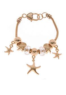 Kim Rogers Gold-Tone Starfish Slider Bracelet