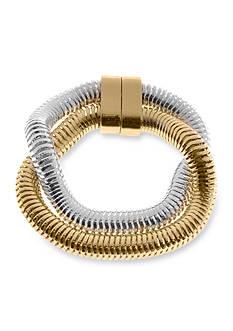 Kim Rogers Two-Tone Snake Chain Bangle Bracelet