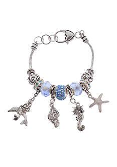 Kim Rogers Silver-Tone Sea Life Charm Boxed Bracelet