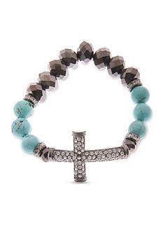 Kim Rogers Silver-Tone Cross Bracelet
