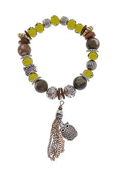 Kim Rogers Two-Tone Multicolored Bead Stretch Bracelet