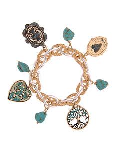 Kim Rogers Two-Tone Tree of Life Love Drop Bracelet