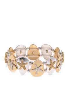 Kim Rogers Two-Tone Starfish Stretch Bracelet