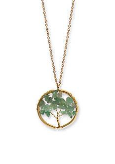 Kim Rogers Gold-Tone I Believe Tree of Life Pendant Necklace