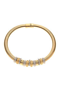 Kim Rogers Gold-Tone Crystal Collar Necklace