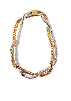 Kim Rogers Two-Tone Snake Chain Collar Necklace