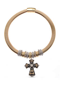 Kim Rogers® Gold-Tone Cross Magnetic Collar Necklace