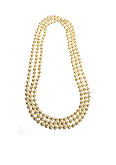 Kim Rogers® Gold-tone Bead Rope Necklace