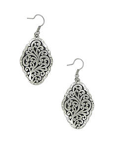 Erica Lyons Must Have Silver-Tone Scroll Earrings