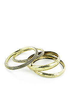 Erica Lyons Gold-Tone Bangle Set