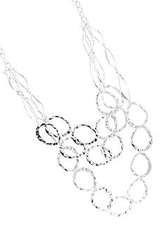 Erica Lyons Silver-Tone Lining Necklace
