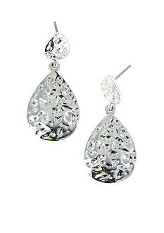 Erica Lyons Silver Tone Pierced Earrings