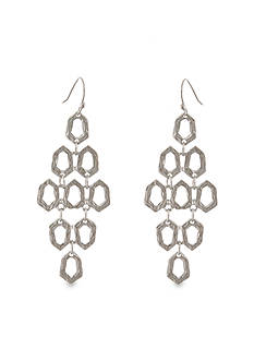 Erica Lyons Silver-Tone Hammered Earrings