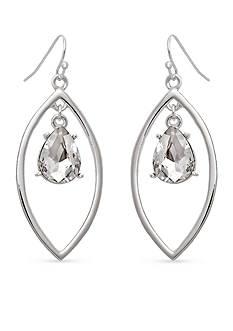 Erica Lyons Silver-Tone Drama Orbital Navette Drop Earrings