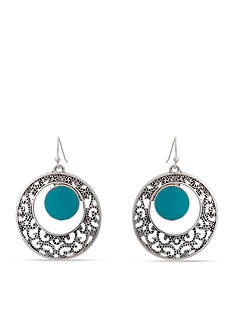 Erica Lyons Filigree Circle Earrings