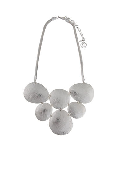 Erica Lyons Silver-Tone Medalist Necklace
