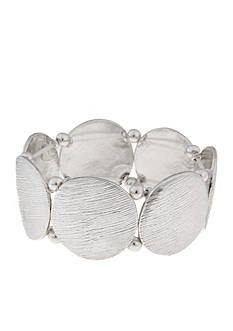 Erica Lyons Silver-Tone Medalist Bracelet