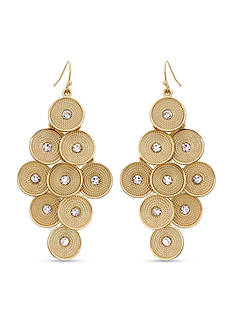 Erica Lyons Gold-Tone Sphere of Influence Chandelier Earrings