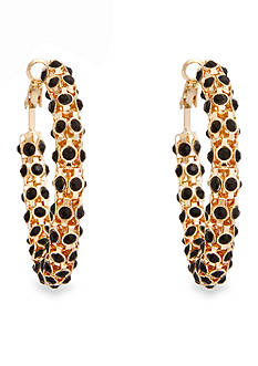 Erica Lyons Gold-Tone La Vida Jet Hoop Earrings