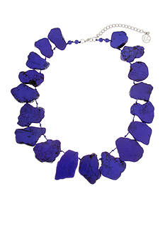 Erica Lyons Silver-Tone Queen of De Nile Stone Statement Necklace
