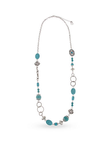 Erica Lyons Silver-Toned Go West Long Beaded Necklace