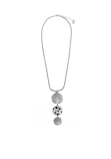 Erica Lyons Silver-Tone Animal House Pendant Necklace