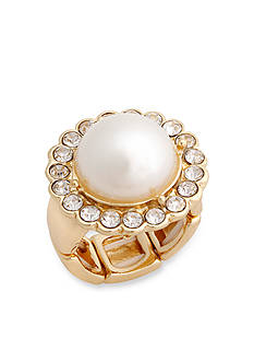 Erica Lyons Gold-Tone Glamorous Dome Fashion Stretch Ring