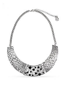 Erica Lyons Silver-Tone Animal House Collar Necklace