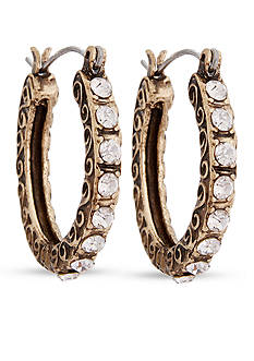 Erica Lyons Gold-Tone Estate Sale Hoop Earrings